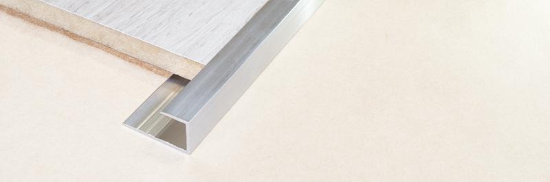 Алюминиевый П-образный профиль стартовый, торцевой
