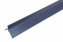 Алюминиевый профиль для балконов, подоконников, террас <br>(капельник), краска, графит, 300 см