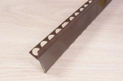 Алюминиевый профиль для балконов, подоконников, террас <br>(капельник), краска, коричневый