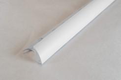 ПВХ-профиль угловой для керамической плитки, 10мм, 270см, наружный, белый