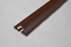 ПВХ-профиль угловой для керамической плитки, 9мм, 270см, наружный, тёмно-коричневый
