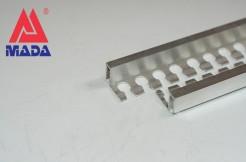 Алюминиевый П-образный гибкий профиль 7,5мм, 250см, без покрытия