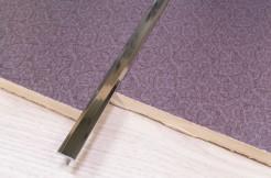 Латунный тавровый профиль, 14мм, 200см, хромированный