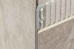 Y - образный алюминиевый профиль торцевой (Мерседес), 2700 мм., анодированный, серебро, под плитку 4 мм, 8 мм, 11 мм, 15 мм (Италия)