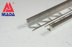 Алюминиевый переходной профиль между плиткой и ламинатом (Z), 10мм, 125см, 250см,  без покрытия