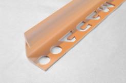 ПВХ-профиль угловой для керамической плитки, 9мм, 270см, внутренний, кремовый
