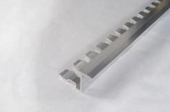 Алюминиевый переходной профиль между плиткой и ламинатом (Z), гибкий, 10мм, 250см, без покрытия
