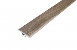Алюминиевый плоский порог 27 мм со скрытым креплением,