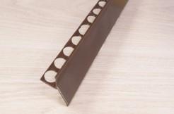Алюминиевый профиль для балконов, подоконников, террас <br>(капельник), краска, коричневый, 300 см