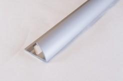 Алюминиевый профиль-уголок полукруглый, 10мм, 270см