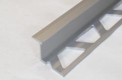 Алюминиевый переходной профиль между плиткой и ламинатом (Z), 10мм, 125см,