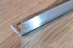 Алюминиевый профиль-уголок прямой, 10мм, 250см, полированный