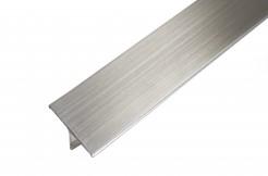 Профиль из нержавеющей стали, 26 мм, 250 см, тавровый, сатинированный
