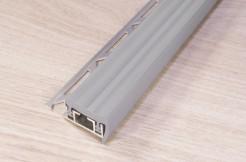 Алюминиевый профиль-ступень с резиновой (ПВХ) вставкой, 32мм/250см, серый