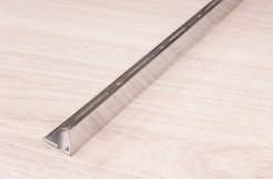 Латунный профиль 10 мм, 200 см, прямой, хромированный