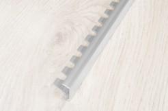 Алюминиевый П-образный профиль стартовый, торцевой, гибкий 10 мм, 270 см, без покрытия