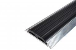 Алюминиевая противоскользящая полоса с резиновой (ПВХ) вставкой 1м, 2м, 3м