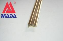 Порог латунный угловой 30мм х 10мм, 90см, с отверстиями, полированный