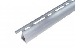 Алюминиевый профиль-уголок полукруглый, 9 мм, 250 см без покрытия