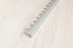 Алюминиевый П-образный профиль стартовый, торцевой, гибкий 10 мм, 270 см, анодированный, соребро