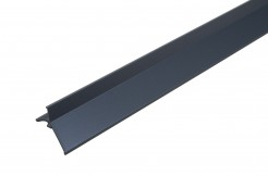 Алюминиевый профиль для балконов, подоконников, террас <br>(капельник), краска, чёрный, 300 см