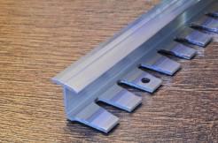 Алюминиевый гибкий тавровый профиль 15мм, 125см, 250см, без покрытия, переходной