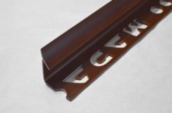 ПВХ-профиль угловой для керамической плитки, 9мм, 270см, внутренний, тёмно-коричневый