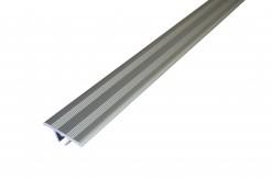 Алюминиевый плоский порог 27 мм, скрытый монтаж, анодированный,