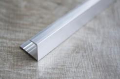 Алюминиевый П-образный профиль стартовый, торцевой, 10 мм, 135 см, без покрытия