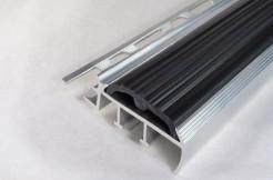 Алюминиевый профиль-ступень с резиновой (ПВХ) вставкой 41мм/100см