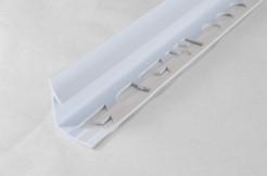 ПВХ-профиль угловой для керамической плитки, 9мм, 250см, внутренний, белый