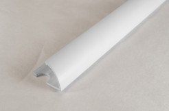 ПВХ-профиль угловой для керамической плитки, 12мм, 270см, наружный, белый