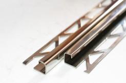 Профиль из нержавеющей стали, 11 мм, 250 см, квадратный, полированный