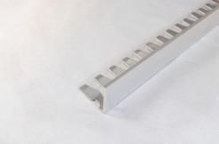 Алюминиевый гибкий профиль-уголок прямой, 10мм, 250см, без покрытия