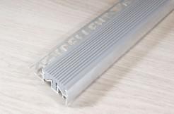 Алюминиевый профиль-ступень с резиновой (ПВХ) вставкой, 30мм/250см, серый